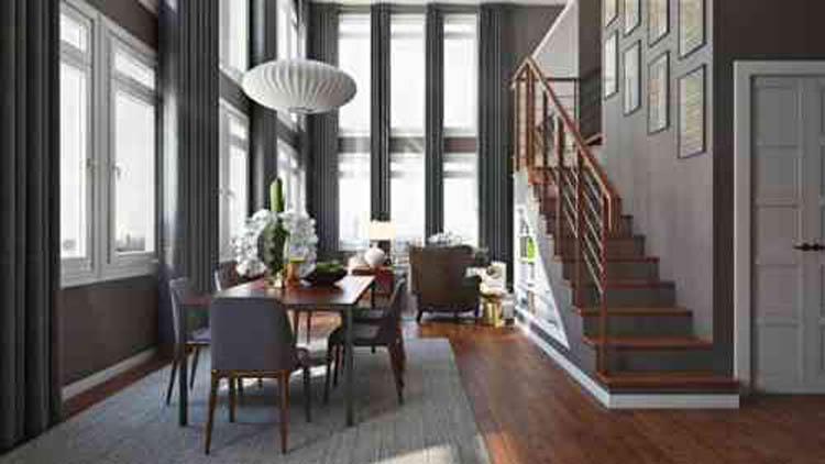 Avec autant de lumière naturelle  dans un intérieur, on peut foncer les murs